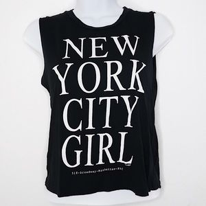 NYC Girl Graphic Muscle Tee
